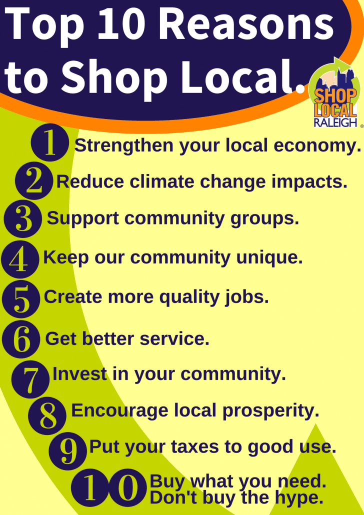 Top 10 Reasons to Shop Local.
