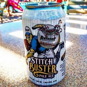 Stitch Buster beer can from Aviator Brewing in NC