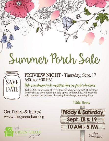 Summer Porch Sale At The Green Chair Project Shop Local