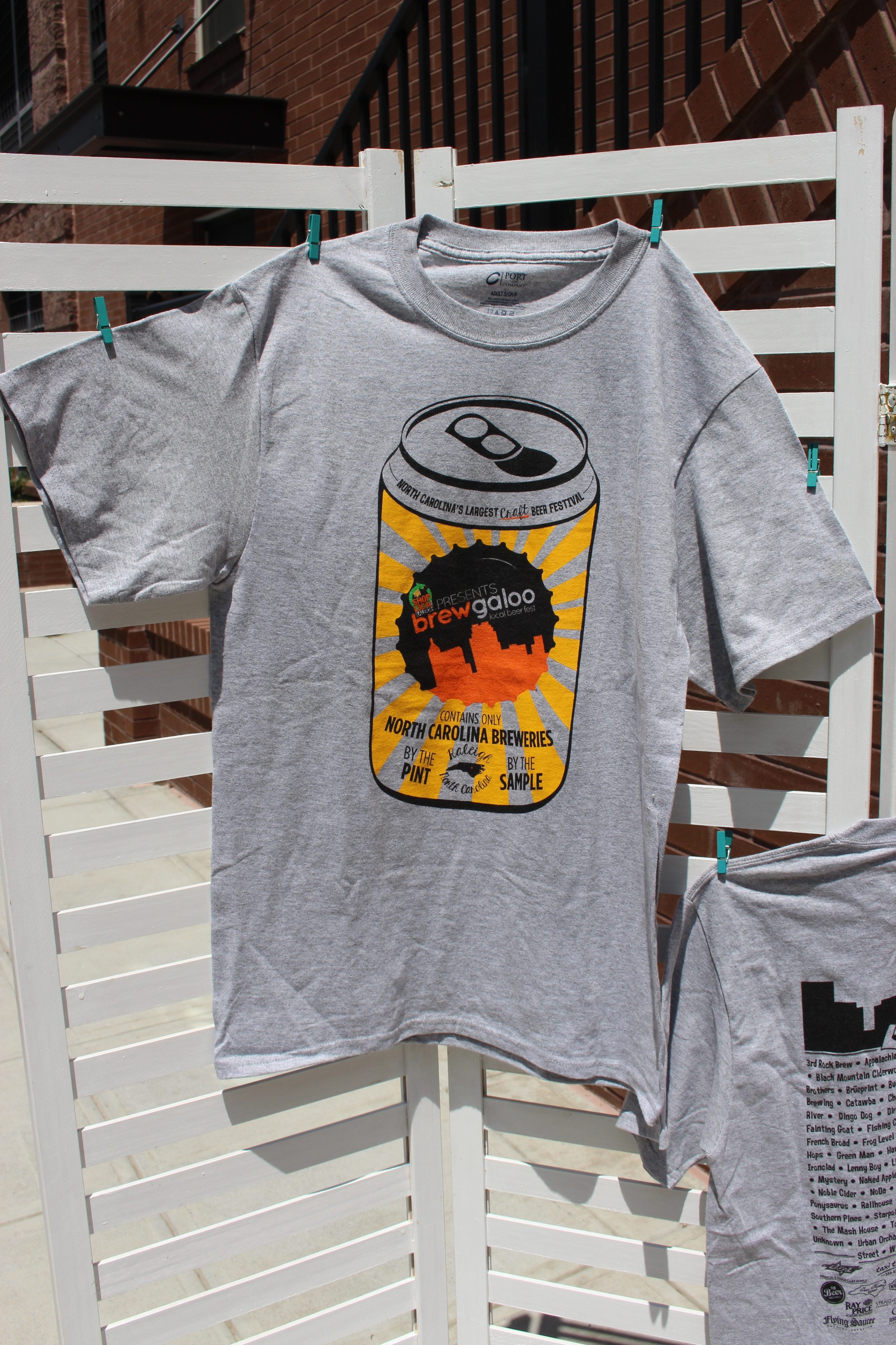 491ba7456 2016 Brewgaloo T-shirt - Shop Local Raleigh