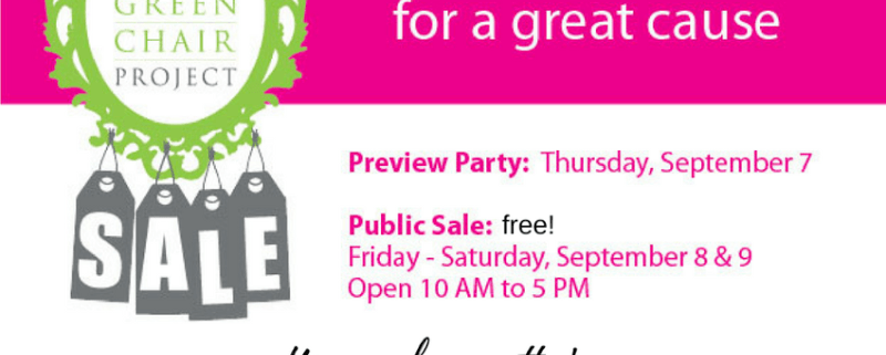 The Green Chair Project Fundraiser Sale Shop Local Raleigh
