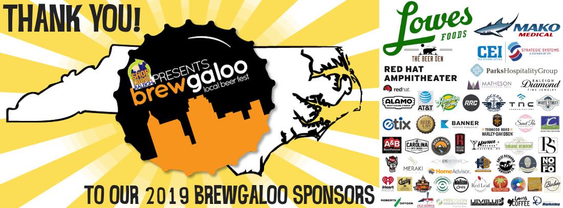 Brewgaloo 2019 Sponsors - Website Slider