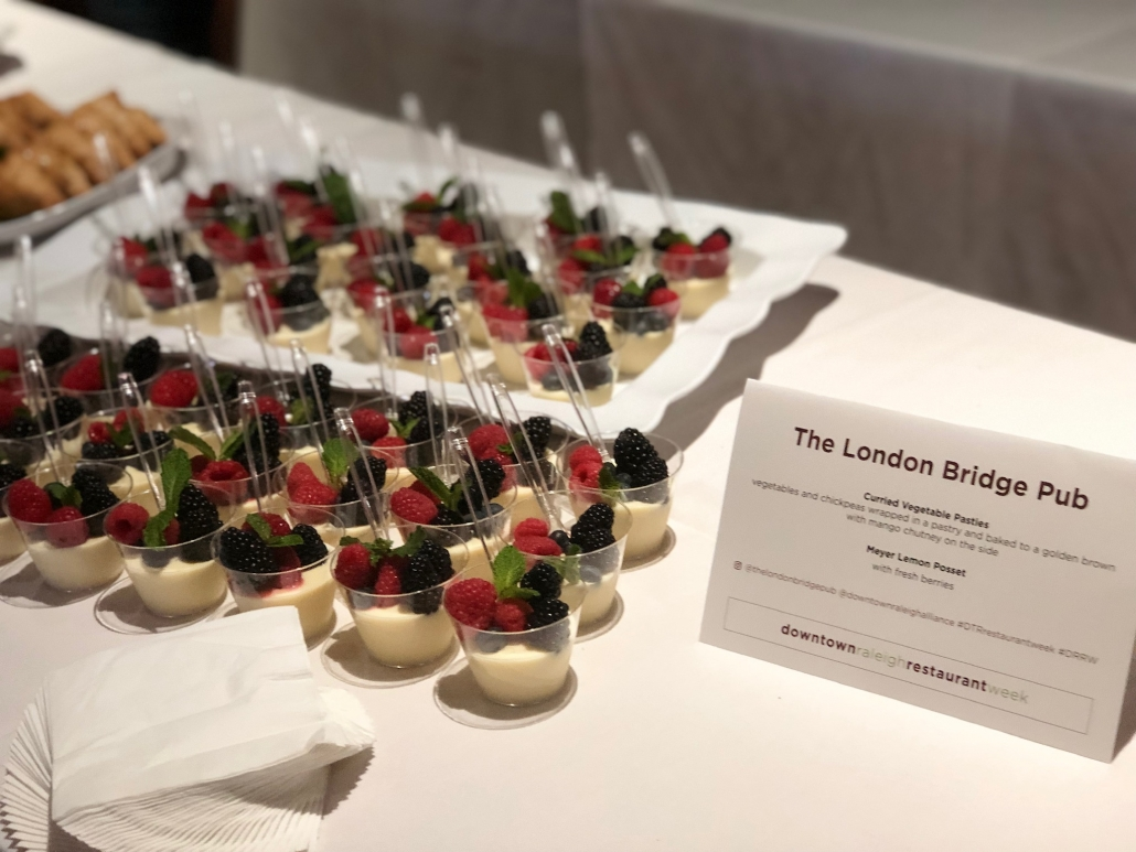 Downtown Raleigh Restaurant Week 2019 - The London Bridge - Meyer Lemon Posset
