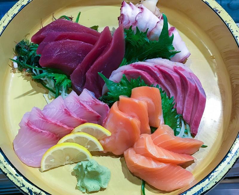 sashimi-on-yellow-dish