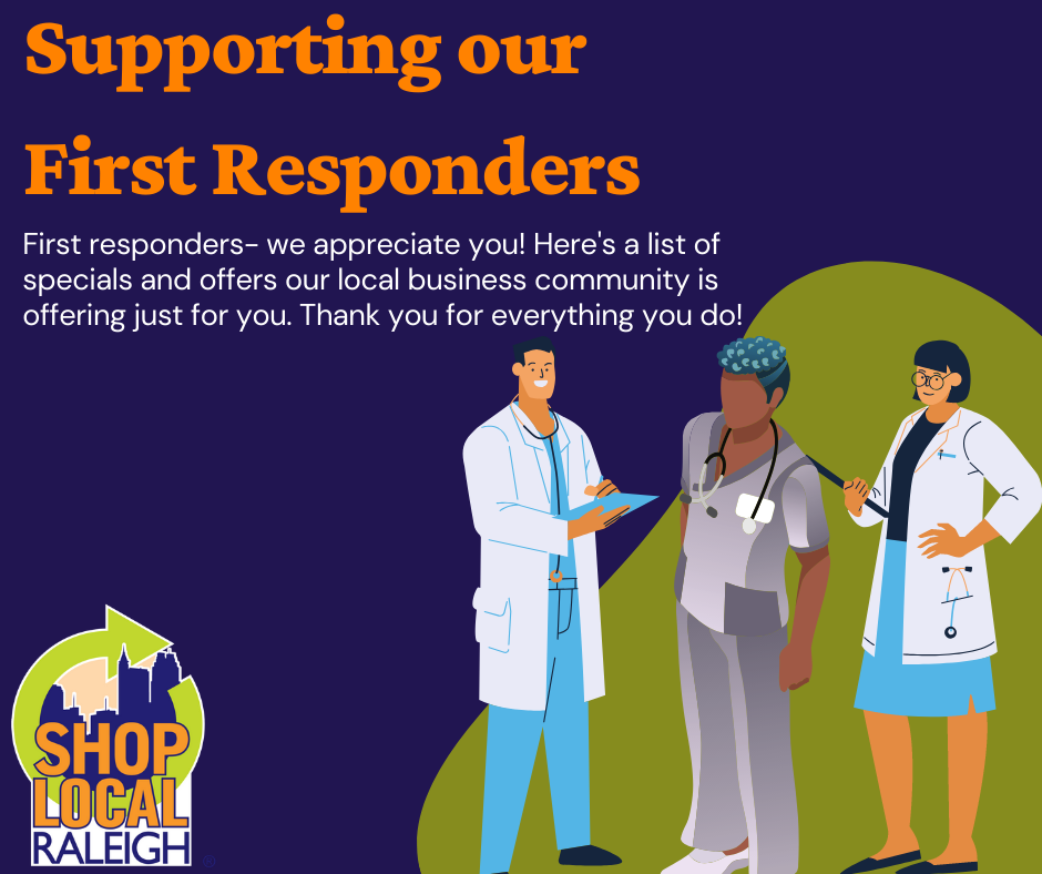 Specials and discounts for First Responders