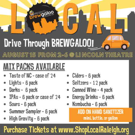 Drive Through BREWGALOO! Options