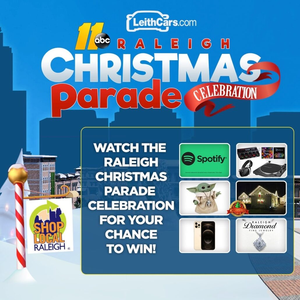 2020 Raleigh Christmas Parade Secret Santa Prizes