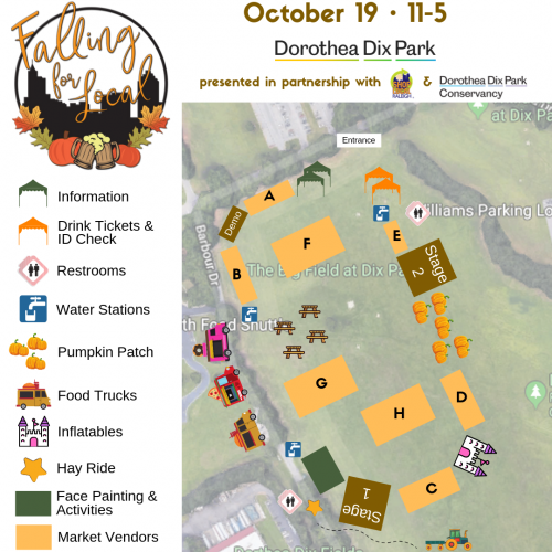 Falling for Local at Dorothea Dix Park Map